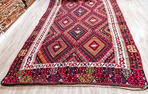 Semi Antique Kilim, Vintage Kilim Rug 5.48x10 ft (167x305 cm)