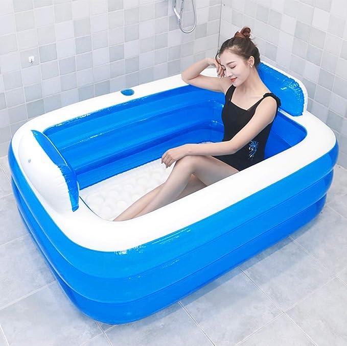 YOCAPE Faltbar Badewanne tragbar Einweichen Bad Wanne Umweltfreundlich Baden Fass Haushalt Gro/ß Wanne Verdickt Erwachsene Bad Wanne Voll K/örper Hei/ß Wanne