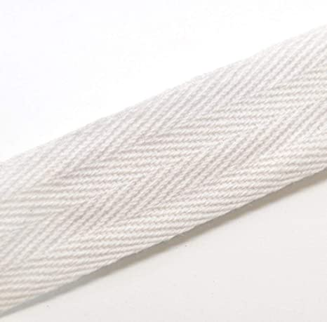 QIANF 100/% Cotton Natural Color Twill Tape 1//4 Inch Wide 300 Yards Roll Herringbone Tape