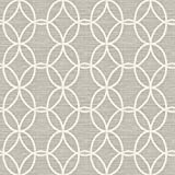 A-Street Prints 2697-78044 Network Light Grey Links Wallpaper,