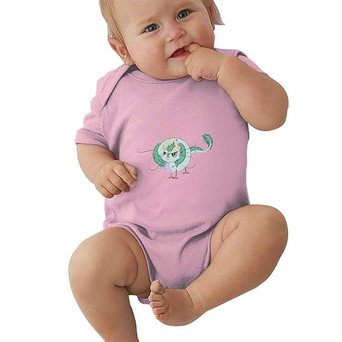 KunYuHeng Baby Round Neck Short Sleeve Bodysuit Spirited Away Funny Crawling Clothes Black