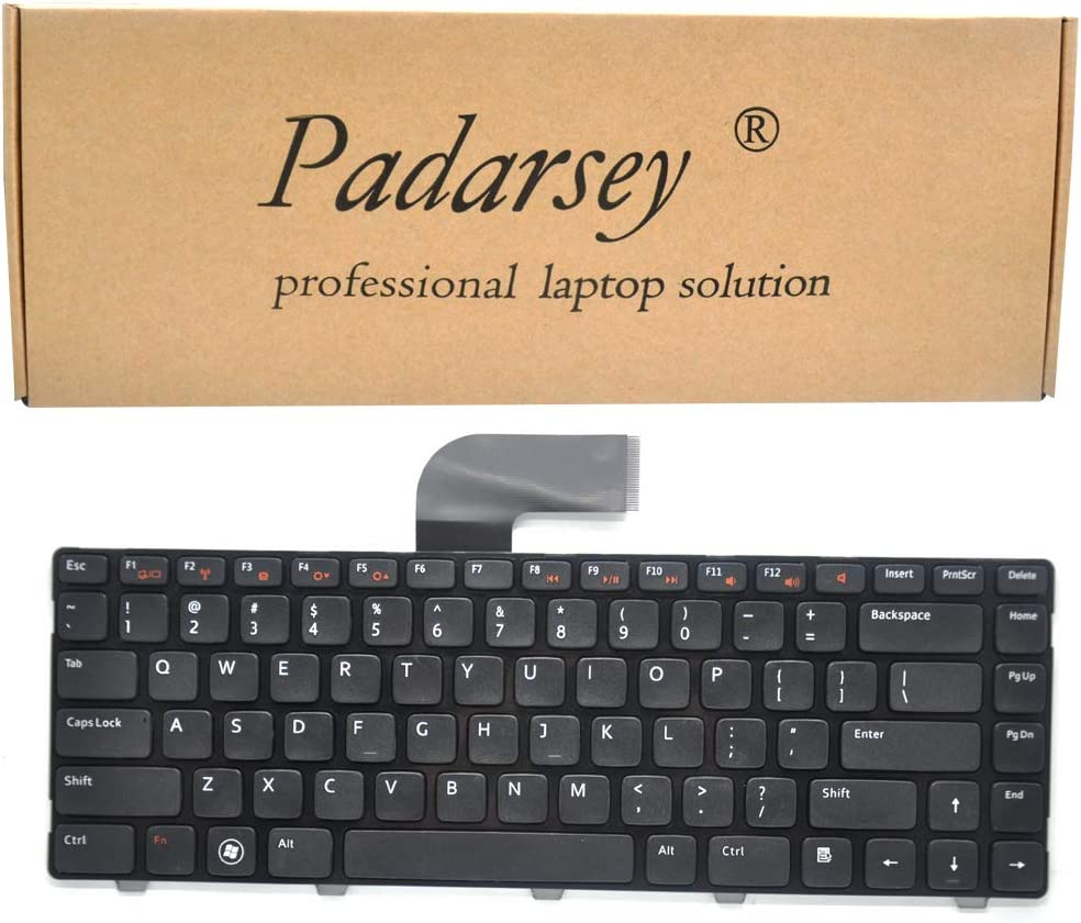 Padarsey Keyboard Non-Backlit Replacement for Dell INSPIRON 14R N4110 M4110 N4050 M4040 M5040 M5050 N5040 N5050 N4410 M411R VOSTRO 3450 3550 V3450 V3550 XPS X501L x502L L502 Series Black US Layout
