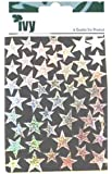 Ivy Holographic Silver Self Adhesive Merit Stars Reward Stickers Sticky Labels (90 Stickers)