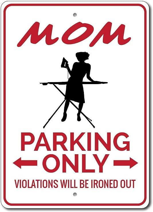 HNNT Señal de Aparcamiento para mamá con Texto en inglés «Mom Sign ...