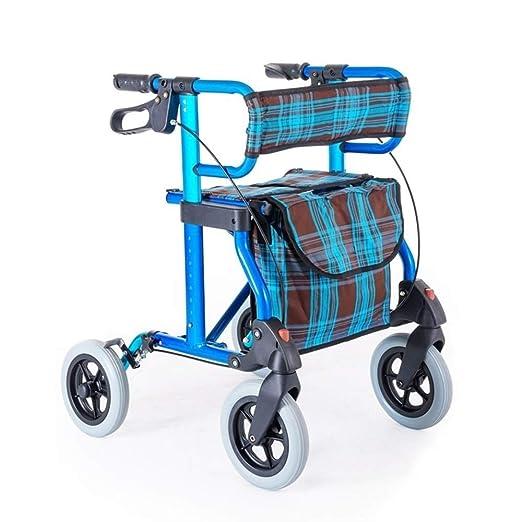 MU-WALKER Andador De Andador De Aluminio Plegable, Ligero Y ...