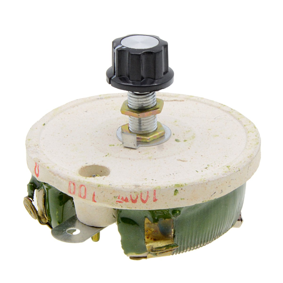 YXQ 100W 100Ohm Rheostat Ceramic Sliding Disk Variable Power Resistors Adjustable Wirewound with Potentiometer Pot(2 Pcs)
