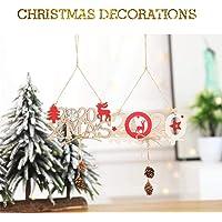 2020 Letter Hemp Wooden Pendant Creative Christmas Tree