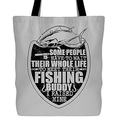 09e09c487a61 Amazon.com: A Fishing Buddy Tote Bags - Shopping Canvas Bags, I ...