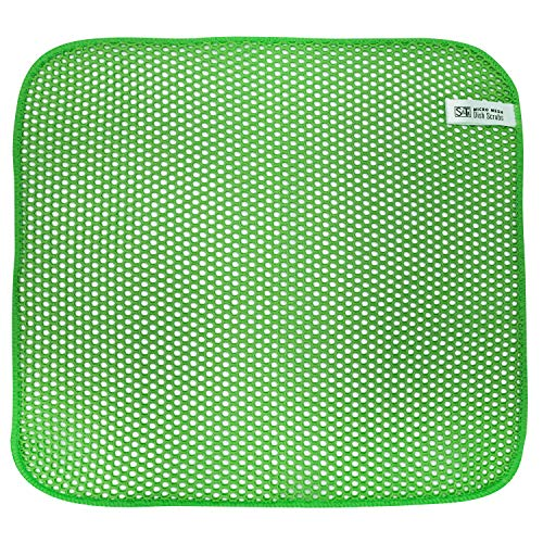 ST 525801 Micro Mesh Fast-Drying Dish Cloths-Lime Green, 11.5-Inch x 11.5-Inch, 3 Pack