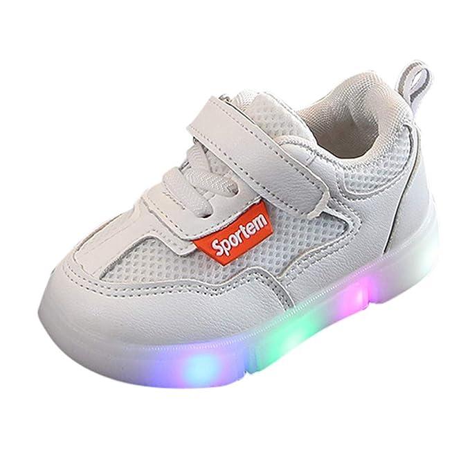 ec64a5f3c1217 Amazon.com: Luminous LED Trainer Running Sneakers Mesh Sport Boots ...