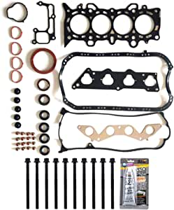 ECCPP Engine Replacement Head Gasket Set with Bolts for 01 02 03 04 05 1.7L for Honda Civic EX Civic HX D17A2 D17A6