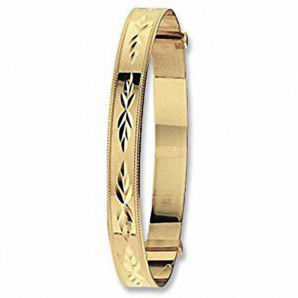 Baby Bangle Yellow Gold Expandable Hallmarked British Made Christening Gift