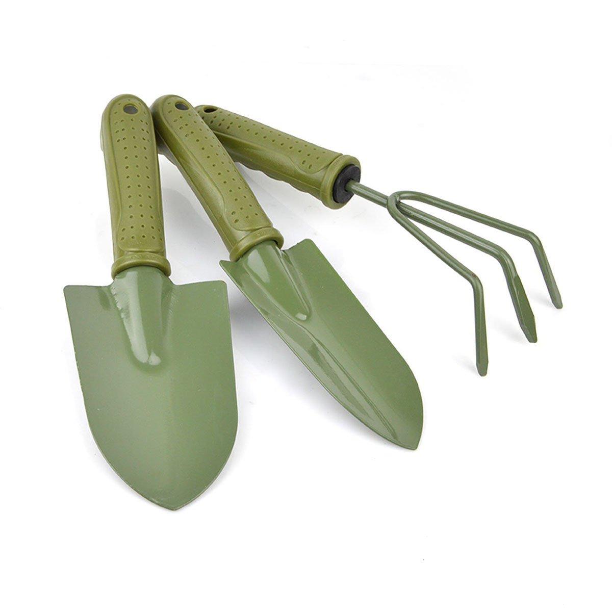 Freehawk Gardening Plant Pot 3 pieces Gardening Tools Small Shovel / Rake / Spade