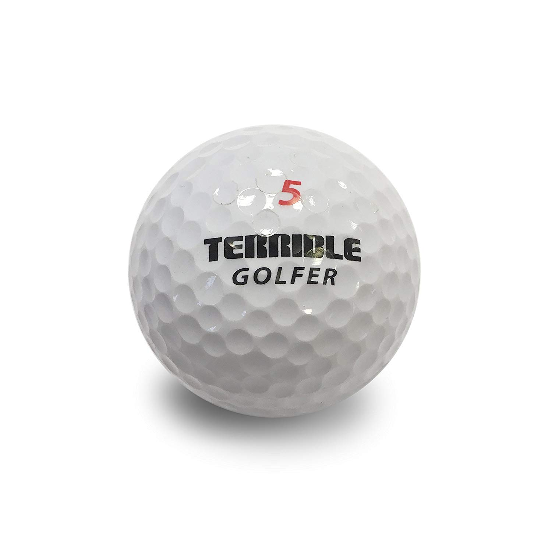 Horrible Golf Balls - Funny Gag Novelty Practice Golf Balls, 6 Balls - Fun Gift for Golfers by Horrible Balls