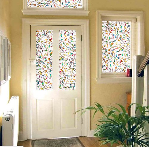 Faux Stained Glass Window Film.Amazon Com Decorative Films Windows Static Cling Stained