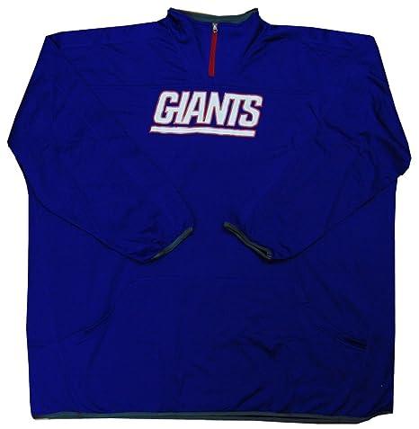 c0f0fdb6 Amazon.com : New York Giants NFL Mens Majestic Birdseye 1/4 Zip ...