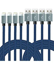 iPhone Cable, MFI Certified 4Pack 10FT Nylon Braided USB Charging & Syncing Lightning Cable Compatible iPhone 12, 11, 11Pro MAX,11 Pro, Xs MAX, XR, 8, 8 Plus, 7, 7 Plus