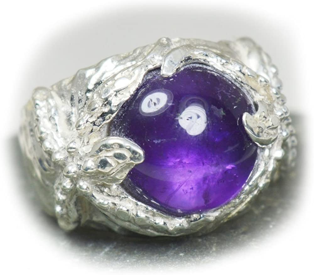 Cab Amethyst Gemstone 925 Sterling Silver Valentine gift Ring All Size Choose
