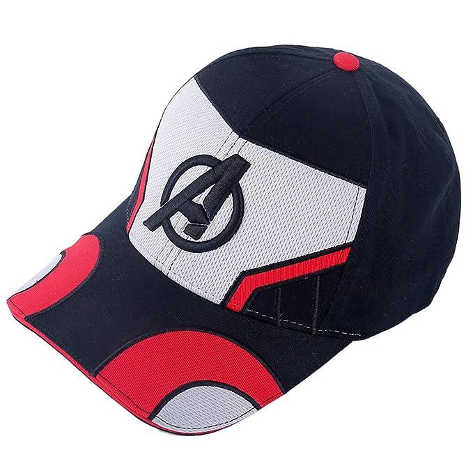 510b493662e Gankchen Quantum Realm The Advanced Tech Suits Avengers 4 Endgame Hat  Cosplay Logo Hats Size Adjustable