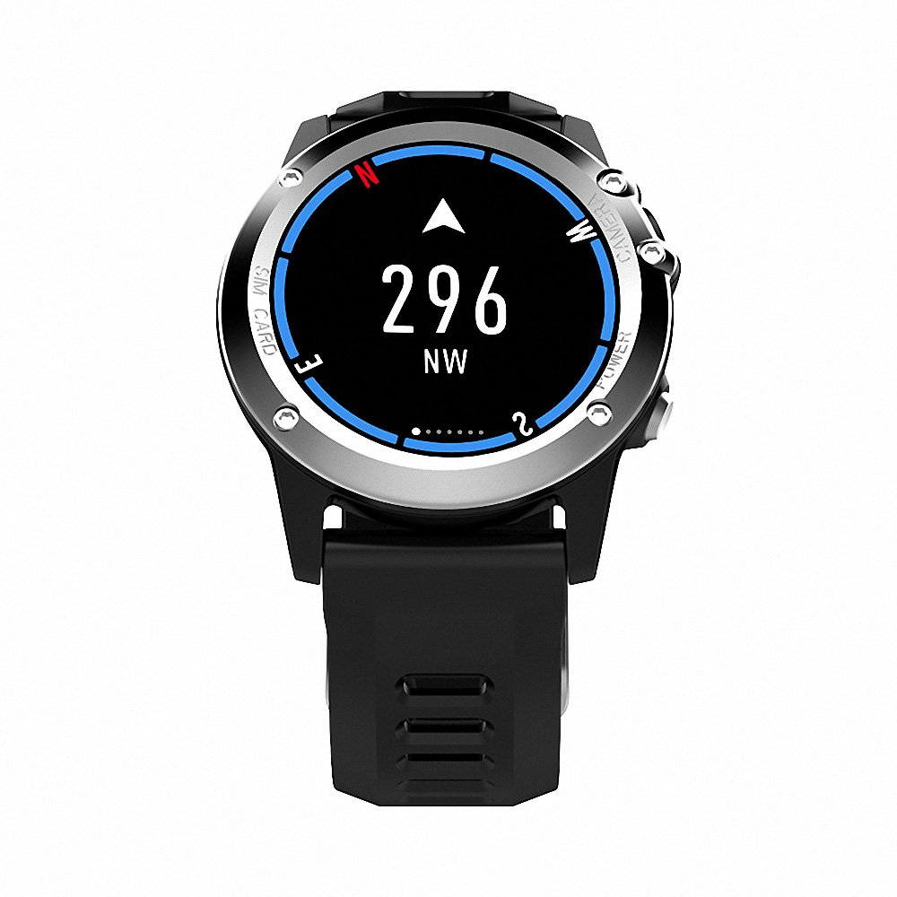 Docooler H1 JM01 Smart Watch 3G WCDMA Watch Phone Dual Core 1GHz 4GB+512MB 5MP Camera+4.0 IP68 Waterproof GPS Pedometer Heart Rate Sleep Monitor Call Reminder Smartwatch Wearable Devices smartwatch