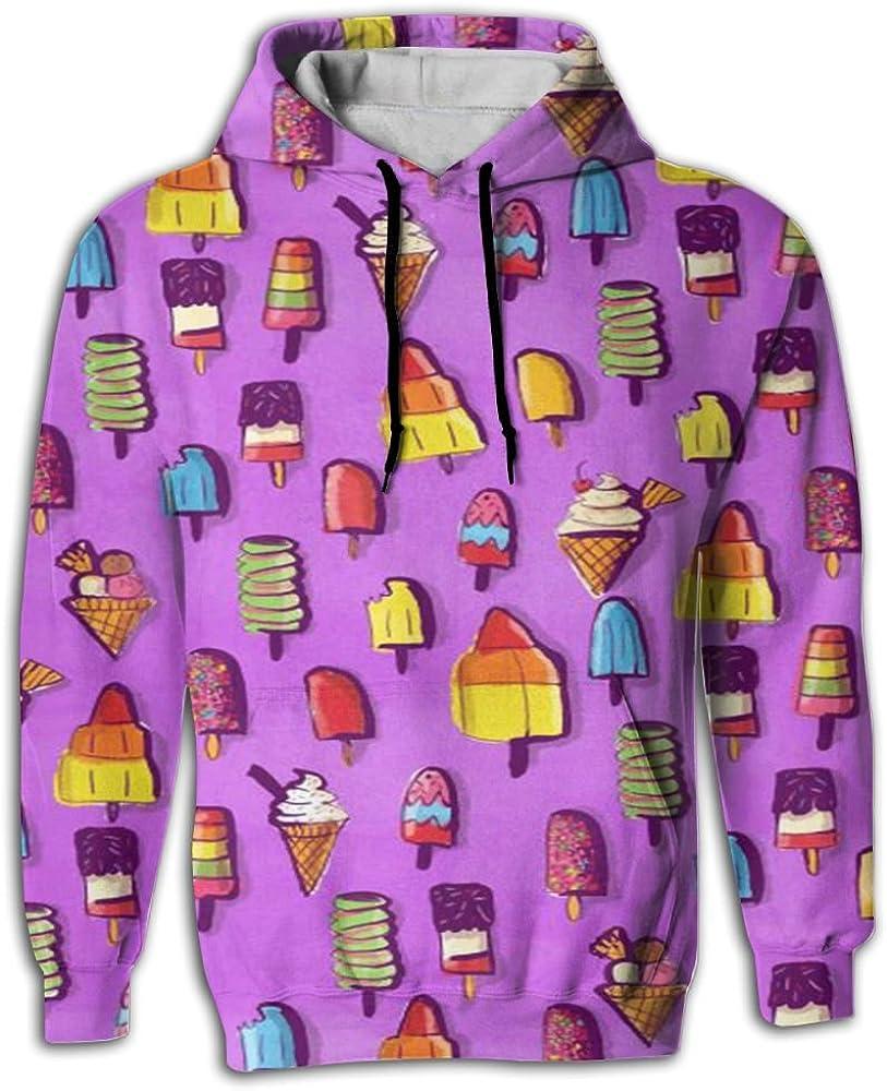 MCPWY Lolly Icecream Mens Raglan Sleeve Hoodie colorful Male Raglan Hoodie