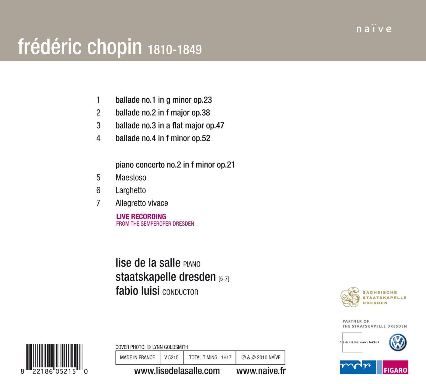 Ballades / Piano Concerto Nos 2 by Nave (Label)