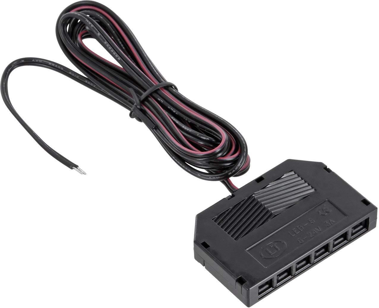 Plafoniera Led 12v : Verteiler mini amp buchse 6 fach mit 2m verbindungs kabel für 12v