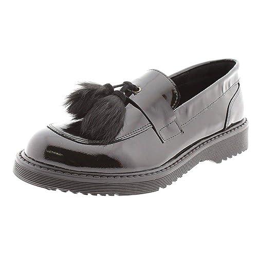Zapatos Mujer Mocasines Naúticos Clarys 5943 Negro 40: Amazon.es: Zapatos y complementos