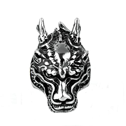 AMDXD Jewelry Stainless Steel Ring Band Punk Rock Chinese
