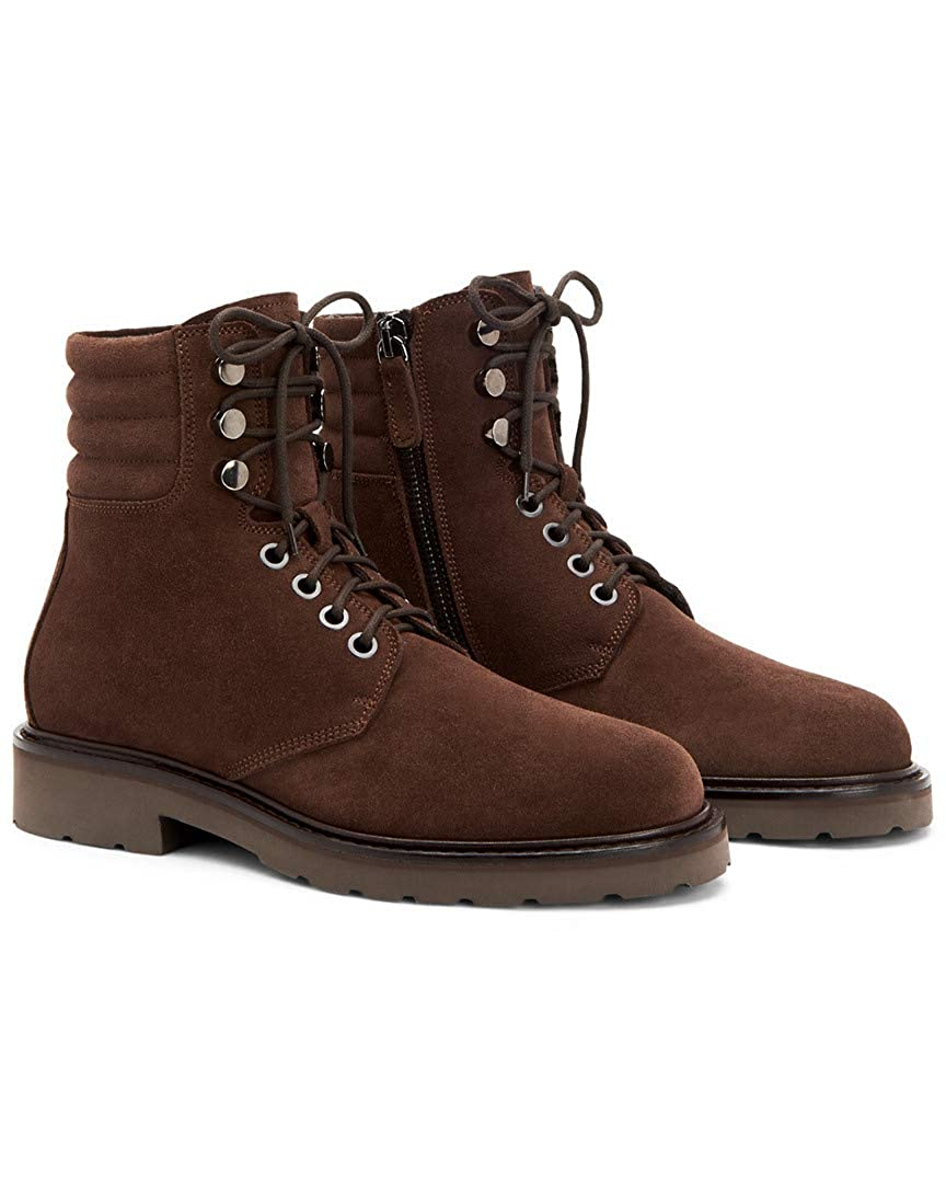 Brown Aquatalia Mens Heath Suede Hiking Boot