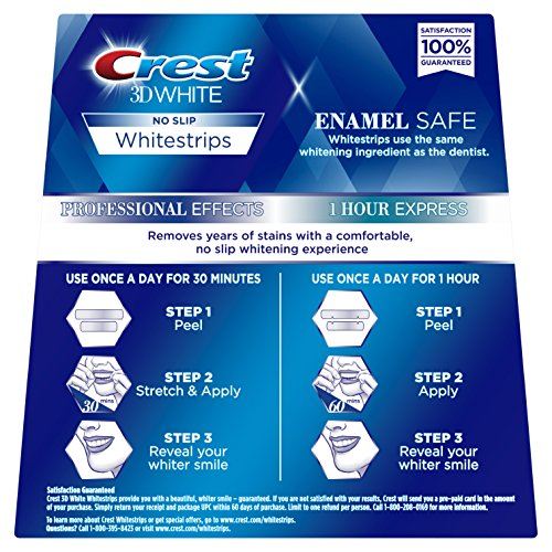 Crest 3d White Professional Effects Whitestrips Dental Teeth Whitening Strips Kit 20 Treatments