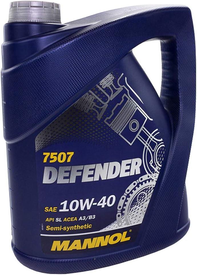 Mannol Defender Motoröl 10w 40 Api Sl Acea A3 B4 Semi Synthetisch 5 Liter Auto