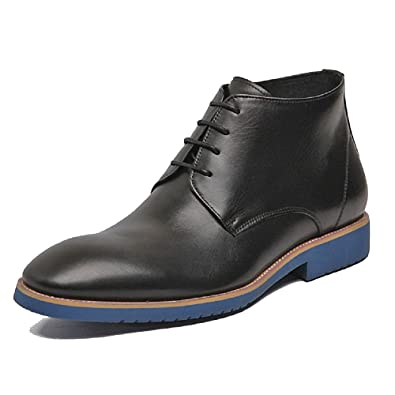 Black/Brown US Size 5-12 Leather Mens Business Formal Dress Lace Up High Top Ankle Boots Shoes