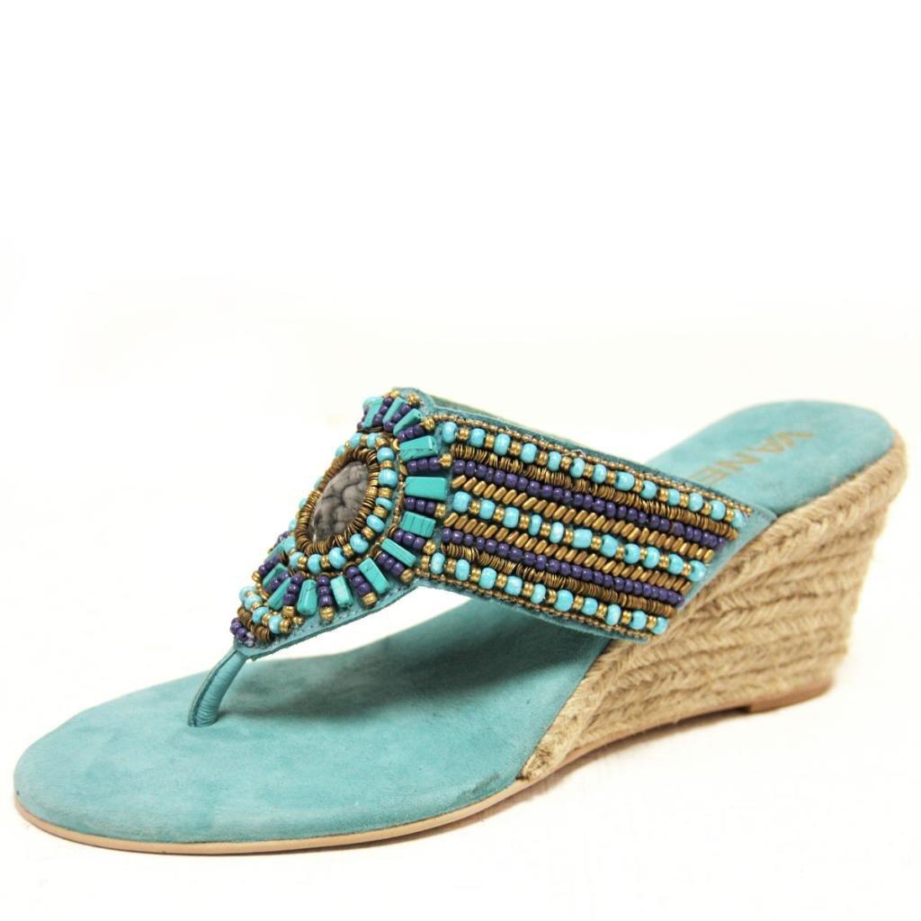 VANELi Women's Iris Thong Sandal,Turquoise/Blue,8 M US by VANELi