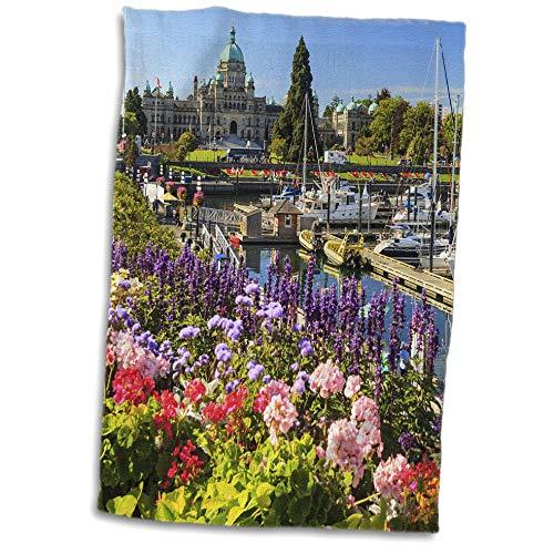 3dRose Danita Delimont - Canada - Inner Harbour, Parliament Buildings, Victoria, BC, Canada - 15x22 Hand Towel (twl_313032_1)