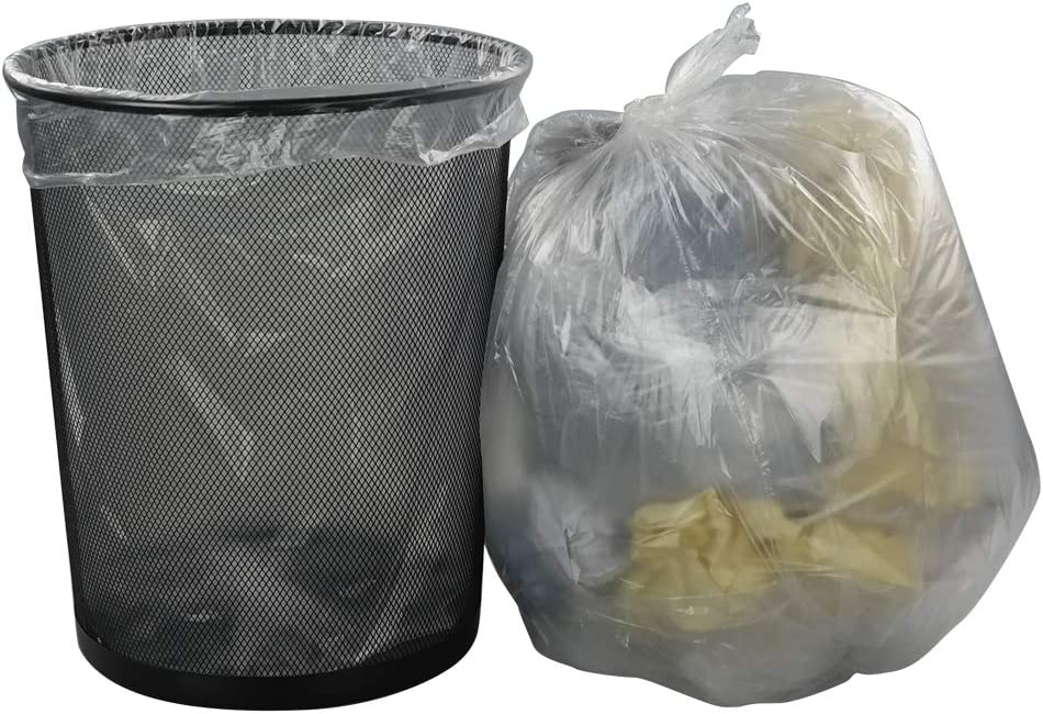 Cand Medium Trash Bags, 7 Gallon Clear Garbage Bags, 110 Counts