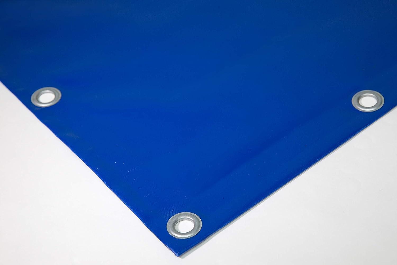 2,5m x 1m, Anthrazit RAL7016 720g//m/² PVC Plane mit 12mm /Ösen OHNE SAUM verschiedene Farben LKW Plane