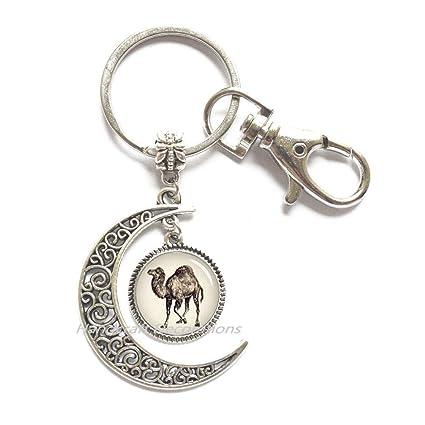 Llavero con diseño de luna, camello, joyería para amantes de ...