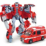 ZGUO Ambulance Transformer Boy Anime Robot fire Rescue ambulance Truck Model Anime Action Figures Classic Toys Kid