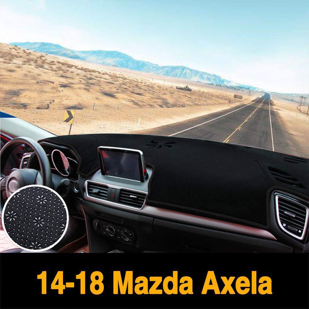 Yeeoy Anti-Slip Backing Custom Dashboard Cover Dash Mat Carpet Fits 2014-2018 Mazda Axela Mazda 3