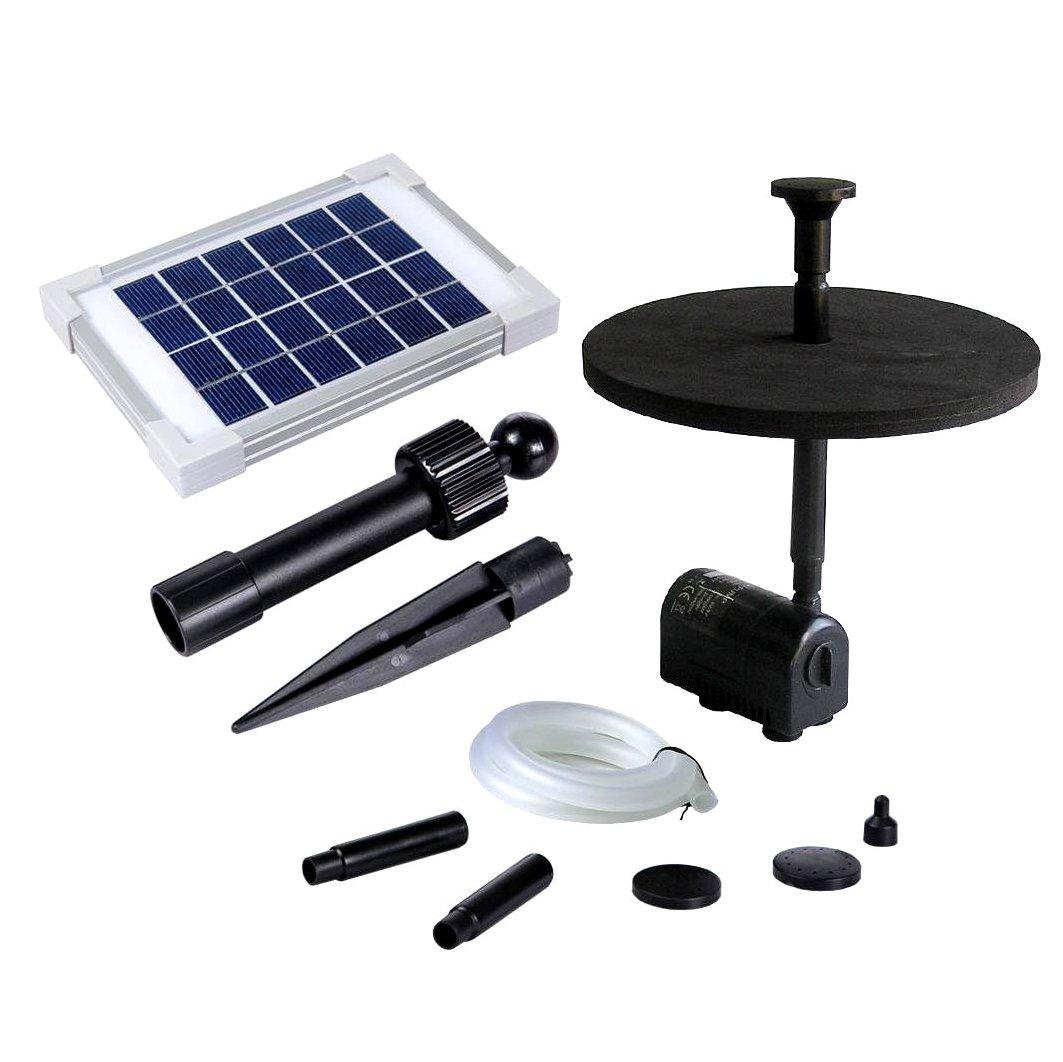 PK Green- Bomba de Agua Solar Sumergible para Estanque, Pozo, Jardín, Piscina - 2W 70cm Fuente Solar PKSF-2wKit