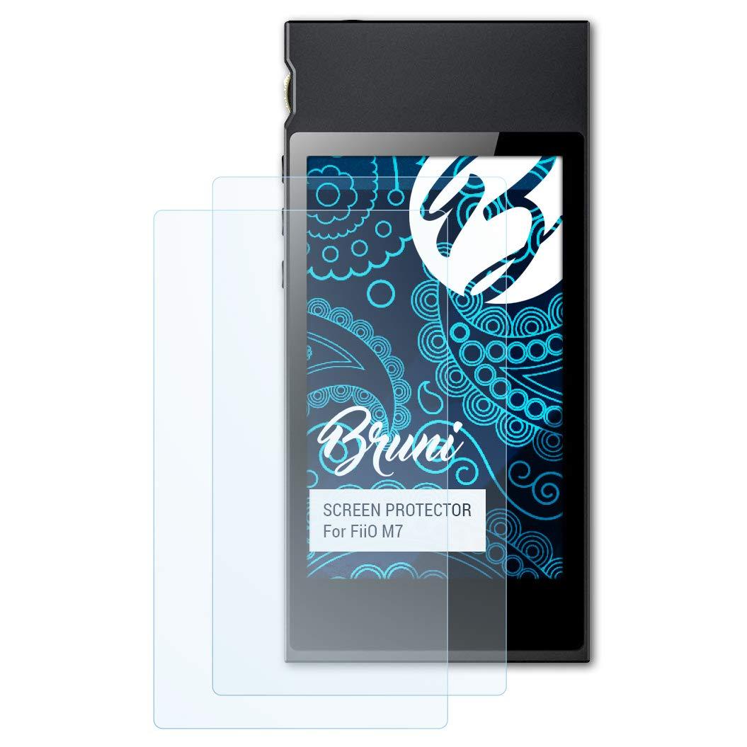 Bruni Schutzfolie kompatibel mit FiiO M7 Folie 2X glasklare Displayschutzfolie