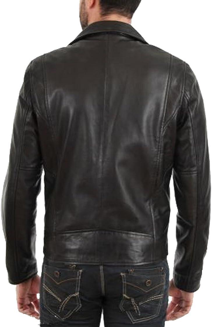 Men Leather Jacket Coat Motorcycle Biker Slim Fit Outwear Jackets T1136