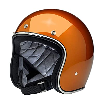 Biltwell Bonanza Helmet (X-Large) (Gloss Copper): Automotive
