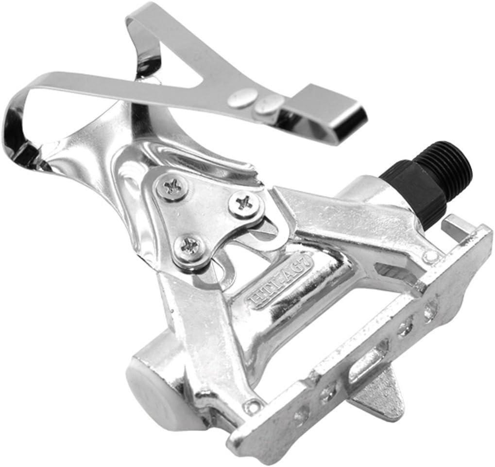 2X Calapies de Acero Cromado Plata Compatible con Pedal Shimano ...