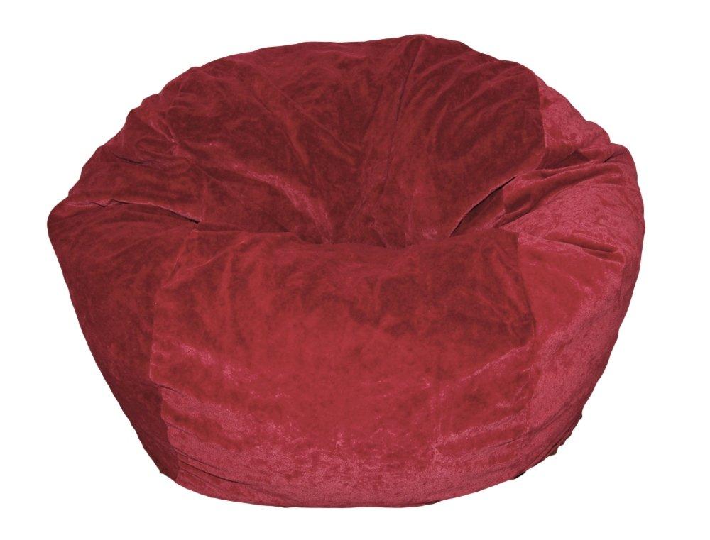 Ahh! Products Microsuede Dark Red Kid Bean Bag Chair