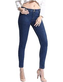 Pantalons Femme Slim Denim Taille Jeans Haute Leggings Chouette BpCzwxqB