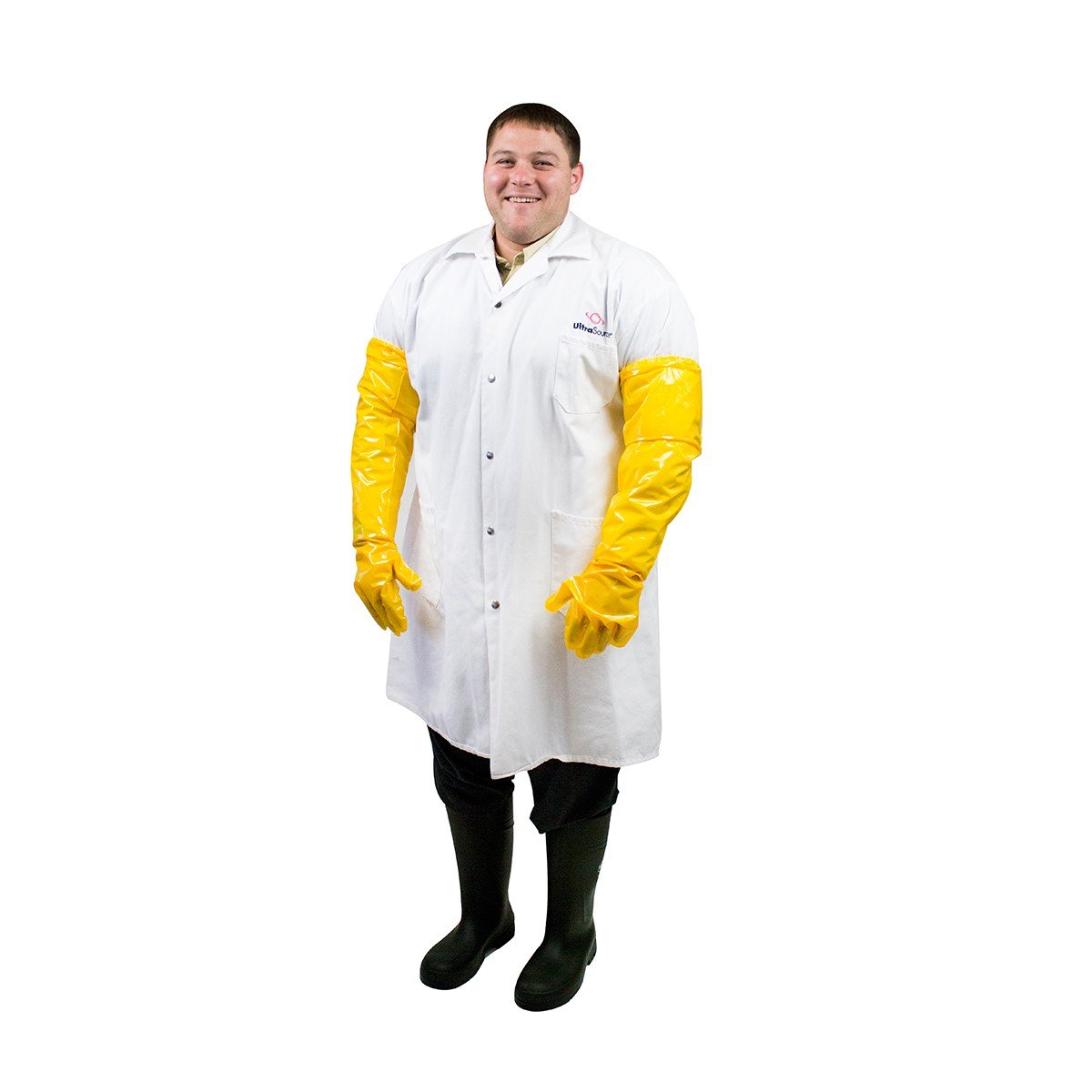 UltraSource Polyurethane Chemical Resistant Gloves, 27'' Arm Length, 6 mil, Yellow (Pair)