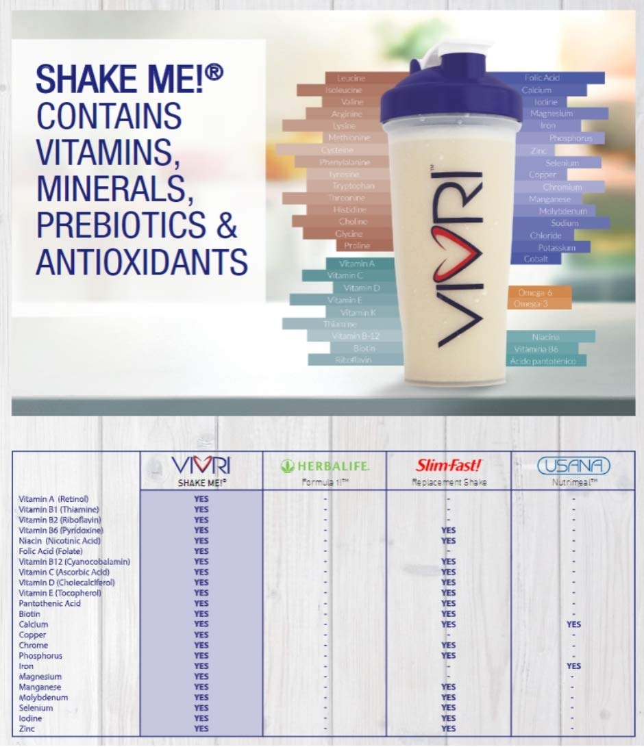 Vivri™ Essential Nutrition System (Shake Vanilla - Orange Mango - Pineapple Orange)