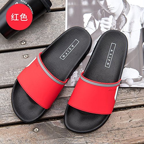 per da per ciabatte da casa da da interno rossa spesso spiaggia sandali bagno fankou 37 Cool femminile donna Summer la morbida antiscivolo per The bagno le base xwq1fHYB